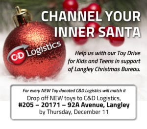 Channel Your Inner Santa and Donate to C&D Logistics Toy Drive