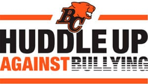 Huddle Up Against Bullying BC Lions - C&D Logistics