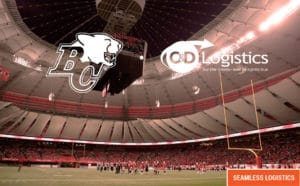 C&D Logistics - Partners with the BC Lions Footbal Club - Seamless logistics
