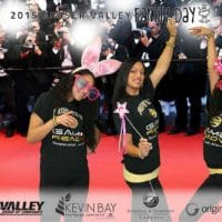Partying on the red carpet in Langley for Family Day