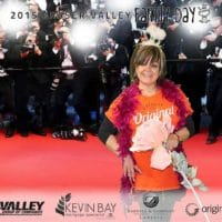 Getting the red carpet treatment at the Fraser Valley Family Day