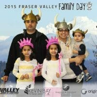 Family dressing up at Family Day in Langley